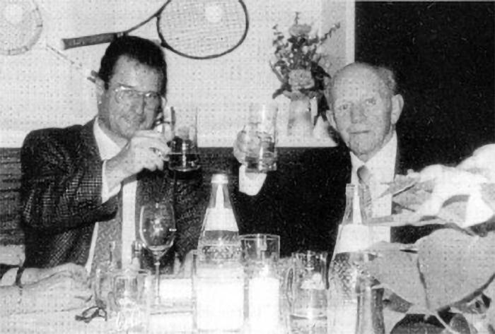 Hans Schenk Ehrenmitglied Tennisclub Sigmaringen